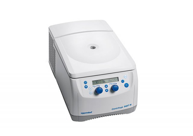 Cooled 48-place micro centrifuge for high throughput research applications.