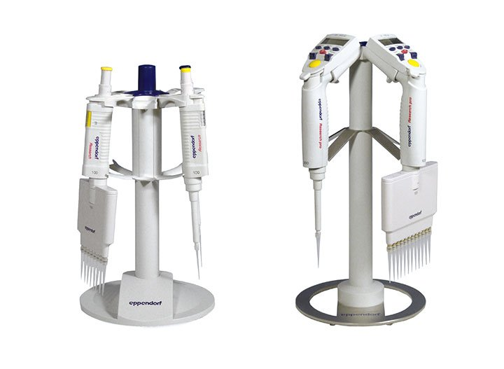 Pipette Rack Rack for the safekeeping of Eppendorf pipettes  with optional charging function.
