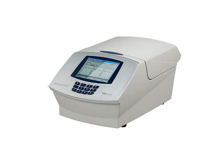 Labcycler Thermal cycler for DNA sequencing. Innovative: quick changing of blocks.