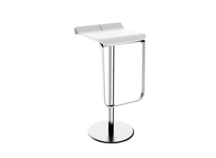 Tulo Mobile barstool for trade fairs, hotels, events or at home. Small pack size, tool-free design in less than 60 seconds.