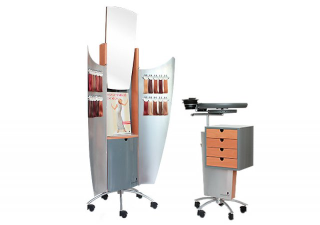 The Schwarzkopf Color Gallery + Color ArtistFunctional is a furniture for professional colour consulting and treatment.||