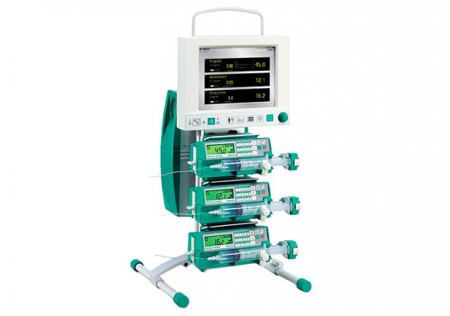 Customised and expandable anaesthesia workstation including the components FM-Controller, FM-Computer and at least 2-3 syringe pumps of the B. Braun FM-Assortment.